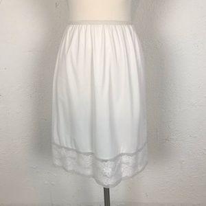 White Vintage Half Slip